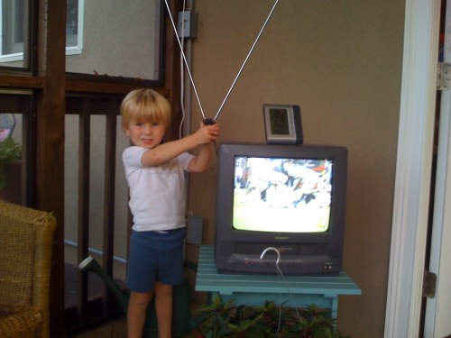 Image result for holding bunny ears over tv
